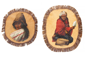 Two Carlos Moncayo Leather Paintings