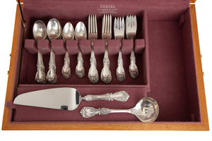 65 Piece Reed & Barton Sterling Silver Flatware & Chest