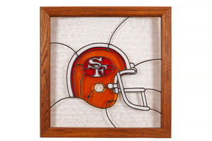 San Francisco 49ers Leaded Glass Hanging