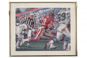 Roger Craig Signed San Francisco 49ers Print