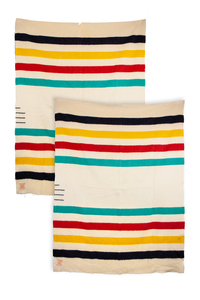 Two Hudson's Bay Wool Blankets