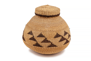 Northern California Indian Lidded Basket