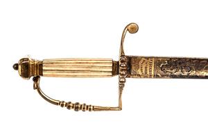 Pillow Pommel Officer's sword with later Presentation Grade blade