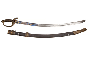 """US 1850 Foot Officer's Sword with older """"Honour And My Country"""" blade"""
