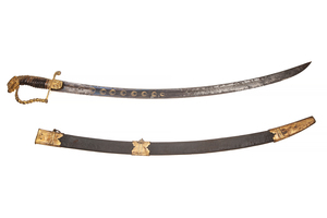 American Eaglehead Mounted Officer's Saber Sword, circa 1810