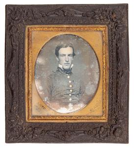 Pre-Civil War Major Robert Anderson of Fort Sumter Daguerreotype by Rufus Anson, New York