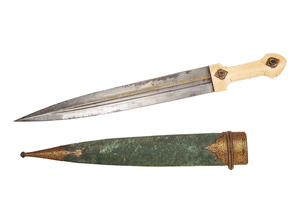 Caucasian or Persian Kindjal Dagger with gold decoration