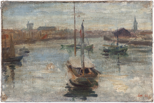 Harbor Scene Painting