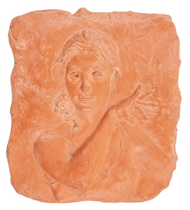 Glenna Goodacre (b. 1939) Terracotta Plaque,