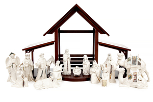 Lenox Nativity Set with Stable