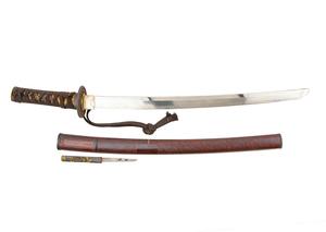 Japanese Wakizashi Short Sword with Signed Blade & Exceptional Mounts