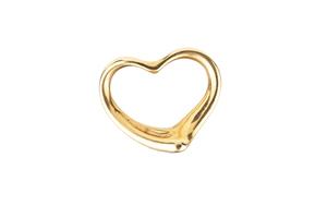 18k Gold Tiffany Elsa Peretti Open Heart Pendant, 4 grams