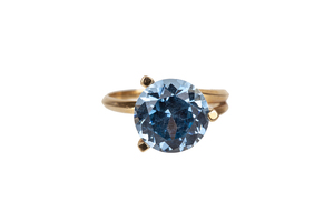 Synthetic Spinel 14k Ring