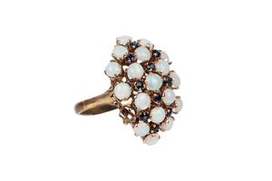 Opal Sapphire 12k Ring
