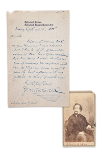 Charles Dickens Letter and CDV