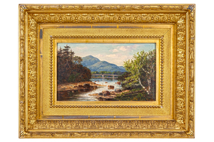 Frank Henry Shapleigh (1842-1906) Painting, New Hampshire Landscape