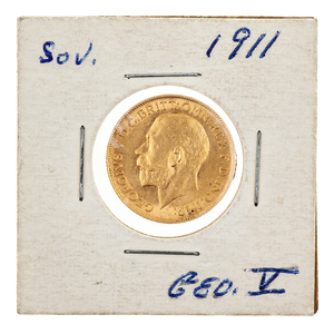 1911 British Gold Sovereign George V Coin