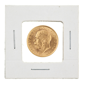 1915 British Gold Sovereign George V Coin