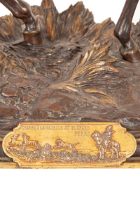 "Alfred Dubucand (1828-1894) Bronze, ""Chasse a la Gazelle au Guépard Perse"""