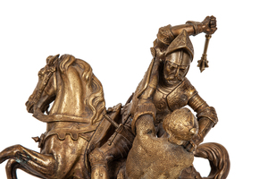 """Jean Francois Theodore Gechter (1796-1844) Bronze, """"Charles Martel Defeating the Saracens"""""""
