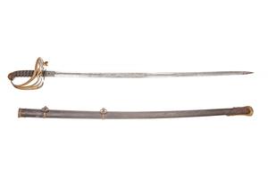 Civil War Non-Regulation Officer's Sword and Scabbard