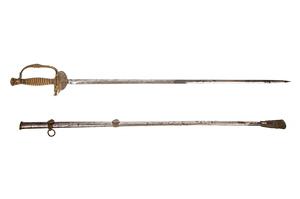 US 1860 Staff & Field Whistle Hilt Sword & Scabbard
