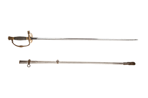1860 Staff and Field Sword with Whistle Hilt and Scabbard