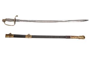 1850 Foot Officer's Non-Regulation Silver grip Scabbard
