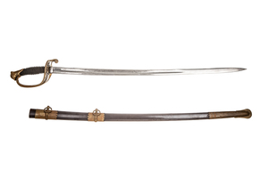 1850 Foot Officer Sword and Scabbard
