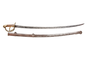 Confederate Etched 1840 Saber and Scabbard