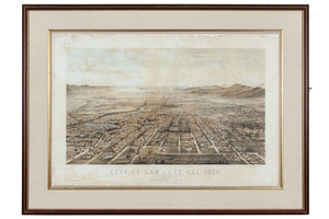 W.C. Gifford, Birds-Eye View City of San Jose, 1875