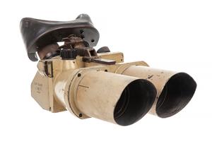 Superb WWII German Fortress or Ship's Binoculars in Khaki