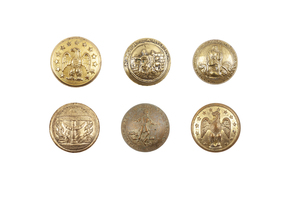 Confederate Civil War Coat Buttons, Group of 6
