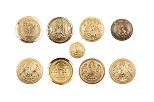 US Southern State's 9 Buttons of the Civil War Era