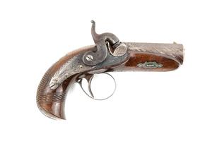 "J. Deringer Phila. Marked Deringer Pistol in ""Peanut"" Size."