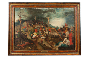 Crucifixion Painting, In the Manner of Peter Bruegel The Elder