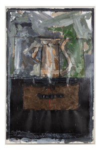 """Tony Hepburn (b. 1942) Acrylic and Charcoal  """"Still Life #6"""""""