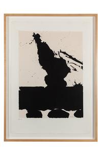 "Robert Motherwell (1915-1991) Screenprint, ""Plate II Africa Suite"""