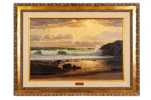 "Robert Wood (1889-1979) Painting, ""Sunset Cove"""