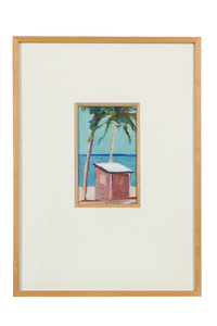 "Gregory Kondos (1923-2021) Painting, ""Fishing Hut"""
