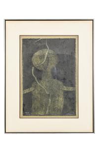 "Rufino Tamayo (1899-1991) Colored Mixograph, ""Figura en Verde"""