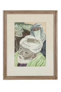 Frode Dann (1892-1984) Watercolor