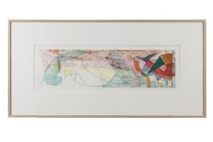 """Tom Holland (b. 1936) Color Etching """"Manca"""" 1984"""