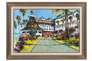 "Paul Blaine Henri (1932-1999) Painting, ""Del Coronado Hotel"""