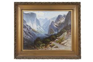 "Harry Best (1863-1936) Painting, ""Inspiration Point, Yosemite"""