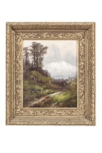 "Harry C. Best (1863-1936) Painting, ""Mt. Shasta"""