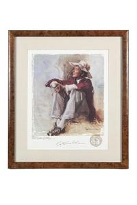 Katherine Hepburn Signed Kinstler Print