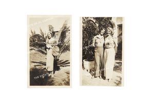 Two Vintage Silver Print Photographs of Mae Capone
