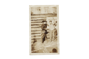 Vintage Silver Gelatin Photograph of Al Capone and Associate
