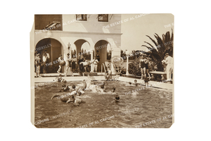 Four Vintage Silver Print Photographs of Grounds at Capone's Palm Island Home